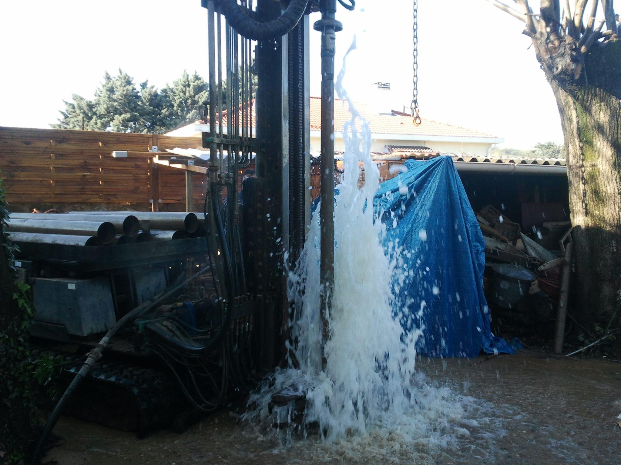 Forage d'eau à Valence